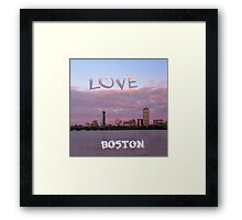 Love Boston Framed Print
