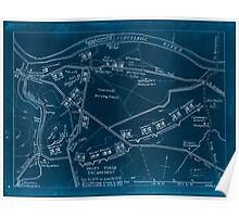 American Revolutionary War Era Maps 1750-1786 982 Valley Forge encampment Dec 19 1777 to June 18 1778 Inverted Poster