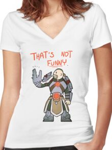 Smite - That's not funny (Chibi) Women's Fitted V-Neck T-Shirt