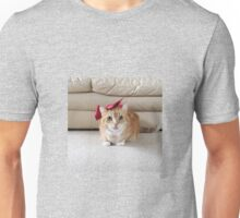 Cute cat with a bow Unisex T-Shirt