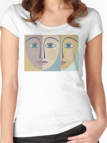 FACES #1 Women's Fitted Scoop T-Shirt