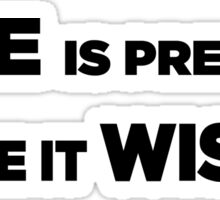 Time is Precious - Waste it Wisely Sticker