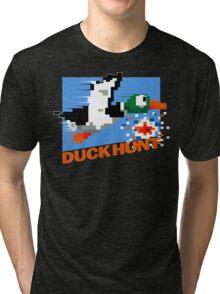 Duck Hunt Retro Cover Tri-blend T-Shirt