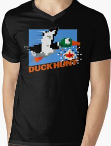 Duck Hunt Retro Cover Mens V-Neck T-Shirt