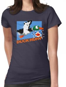 Duck Hunt Retro Cover Womens Fitted T-Shirt