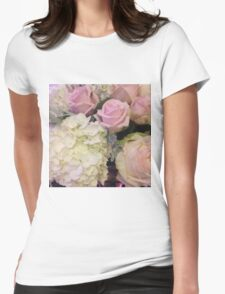Dusty Flowers Womens Fitted T-Shirt