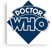 retro doctor who logo Canvas Print