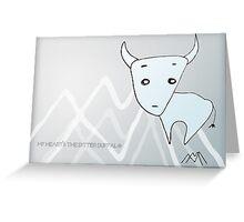 Bitter Buffalo Greeting Card