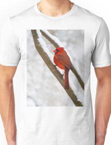 Cardinal's Snowy Breakfast Unisex T-Shirt