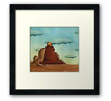 Bear with cap Framed Print