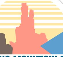 The Magic Mountain Range Sticker
