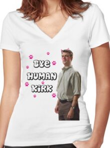 Human Kirk Women's Fitted V-Neck T-Shirt