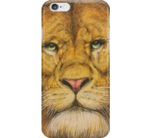Regal Lion Drawing iPhone Case/Skin