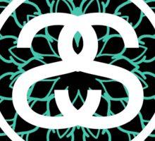 Stussy Mandala Turquoise Sticker