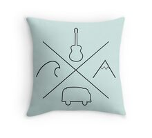 All the good things Throw Pillow