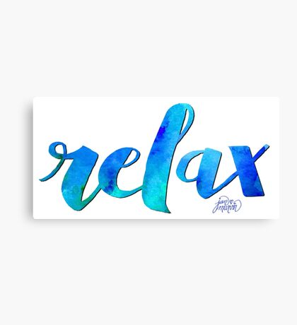 RELAX WATERCOLOR by Jan Marvin Canvas Print
