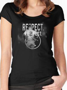 derek Jeter Respect 2 Women's Fitted Scoop T-Shirt