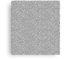 Maze Print - Black and White Canvas Print