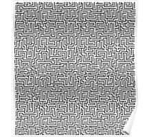 Maze Print - Black and White Poster
