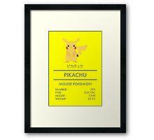 Pokemon: Pikachu #25 Framed Print