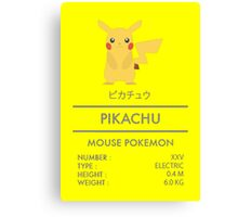 Pokemon: Pikachu #25 Canvas Print
