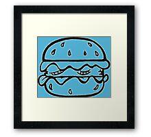 burger yummy Framed Print