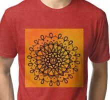 Peace Sign Mandala Tri-blend T-Shirt