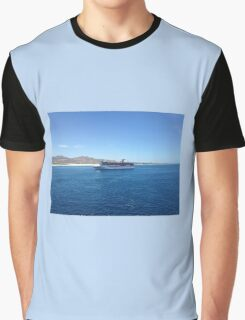 Carnival cruise ship on the ocean Graphic T-Shirt