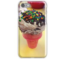 Cute cupcake microphone frosted dessert iPhone Case/Skin