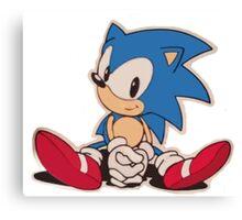 Sitting Sonic Canvas Print