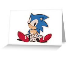 Sitting Sonic Greeting Card