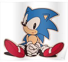 Sitting Sonic Poster