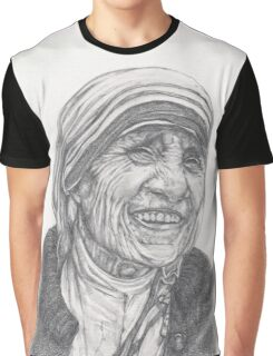 Mother Theresa Drawing Graphic T-Shirt