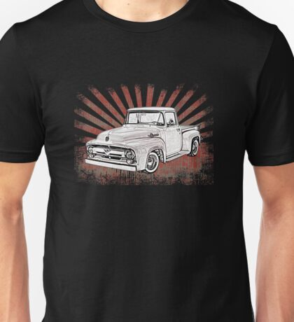 1956 Ford Truck with Sunburst Unisex T-Shirt