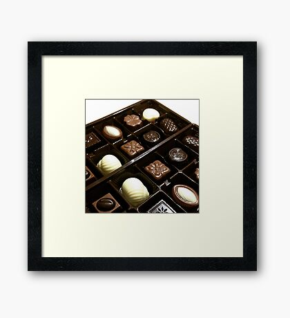 Assorted chocolate candy for dessert Framed Print