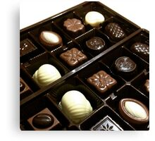 Assorted chocolate candy for dessert Canvas Print