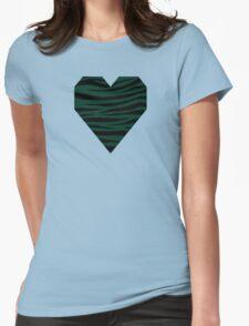 0176 Dark Green Tiger Womens Fitted T-Shirt