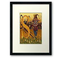S Slender Man Scare Crow  Framed Print