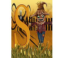 S Slender Man Scare Crow  Photographic Print