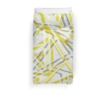 Fissure Yellow & Grey Duvet Cover