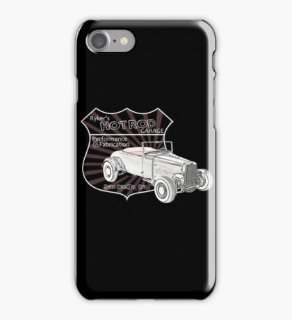 Rykers Hot Rod Garage iPhone Case/Skin