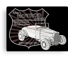 Rykers Hot Rod Garage Canvas Print