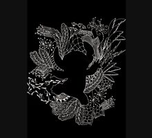 Stitch Zentangle - Hand Drawn Inverted Unisex T-Shirt