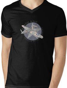 Vintage Flying Airplane Service Mens V-Neck T-Shirt