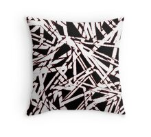 Fissure Mo(red) Throw Pillow