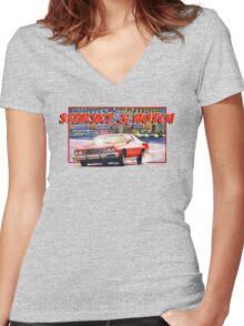 Starsky & Hutch Women's Fitted V-Neck T-Shirt