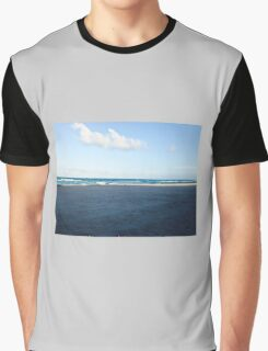 Florida beach with white clouds and waves Graphic T-Shirt