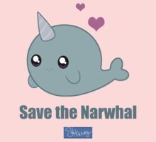 Save the Narwhal One Piece - Long Sleeve