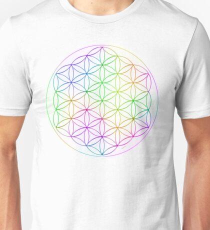 Flower of Life - White Rainbow Unisex T-Shirt