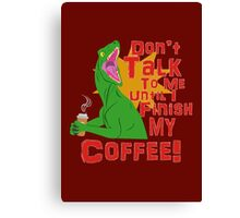 Raptors and Coffee Canvas Print